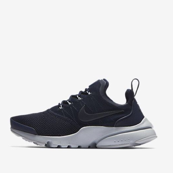 huge discount 43faa 1a27e Nike presto fly navy blue women's shoes new NWT